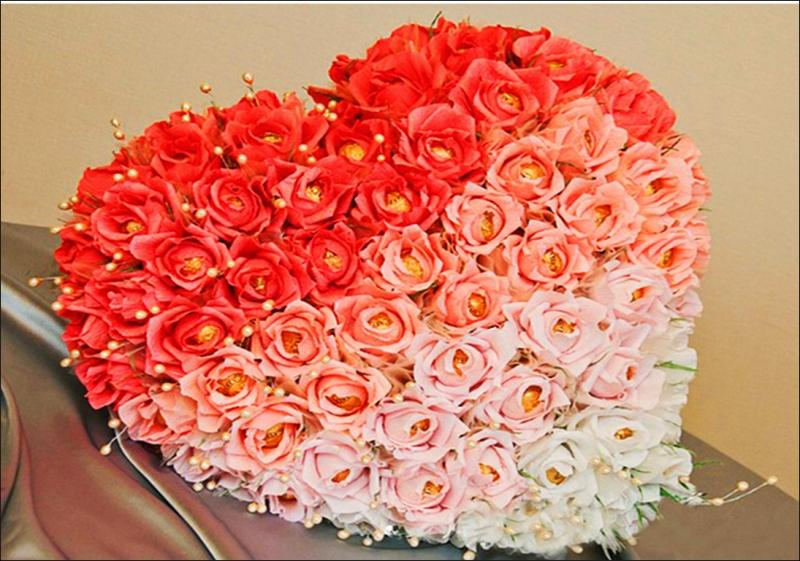 Как сделать сердце из роз своими руками пошаговое фото 7